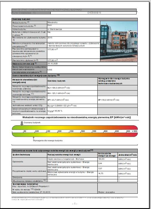 swiadectwo energetyczne budynku domu mieszkania poznan