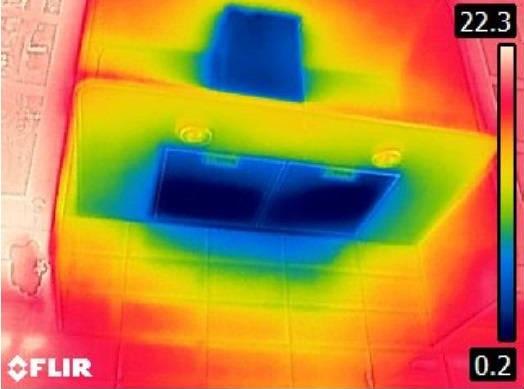 dlaczego wentylacja w mieszkaniu nie działa prawidłowo, badanie termowizyjne, okap