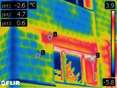 termowizja w budownictwie - badanie termowizyjne zewnętrzne