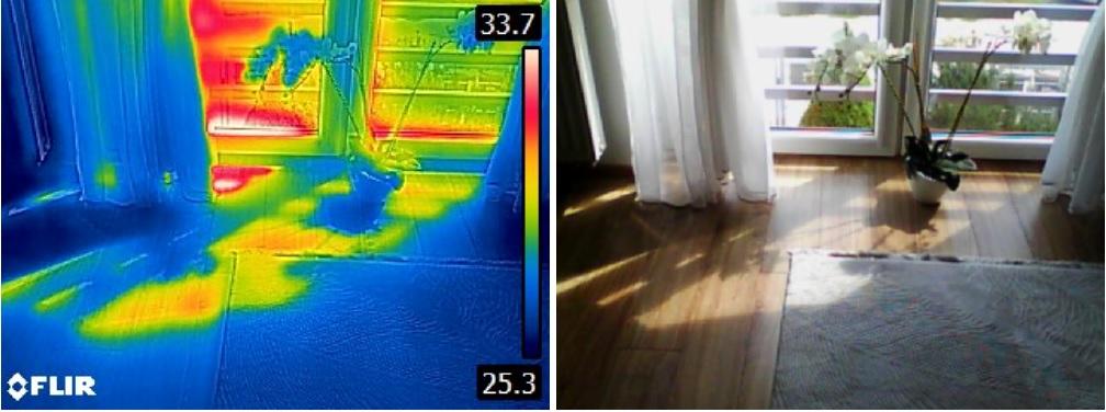 badanie termowizyjne latem - badanie wycieku podloga
