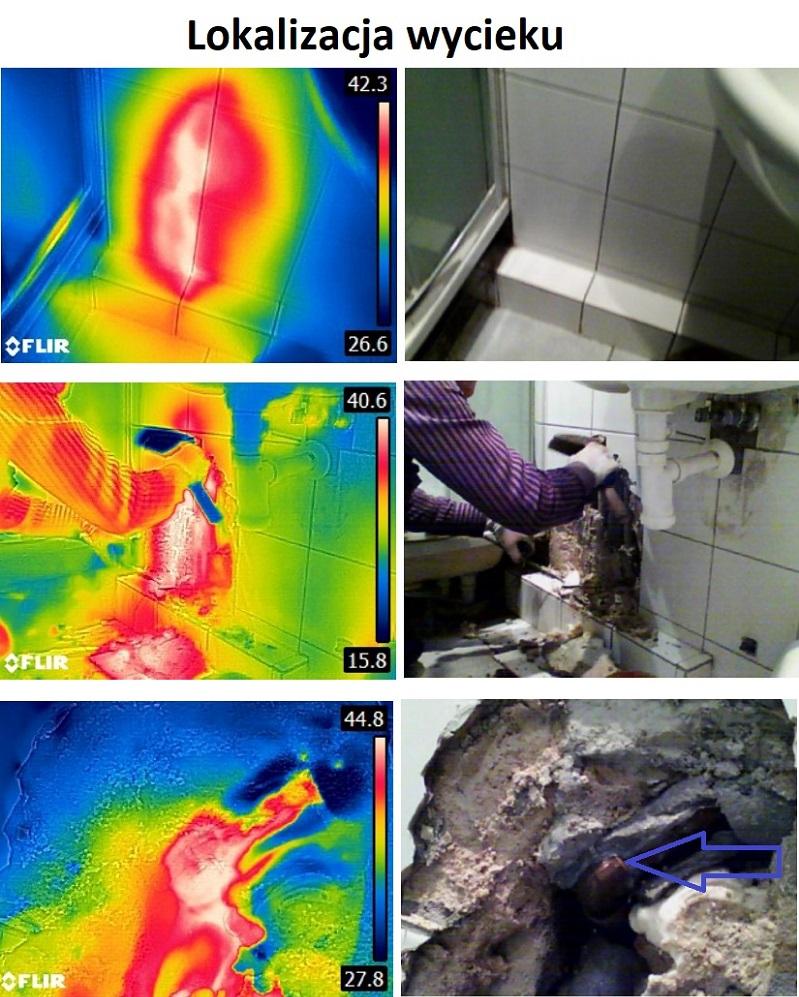 lokalizacja wycieku wody w posadzce, wyciek w podlodze - poznan termowizja