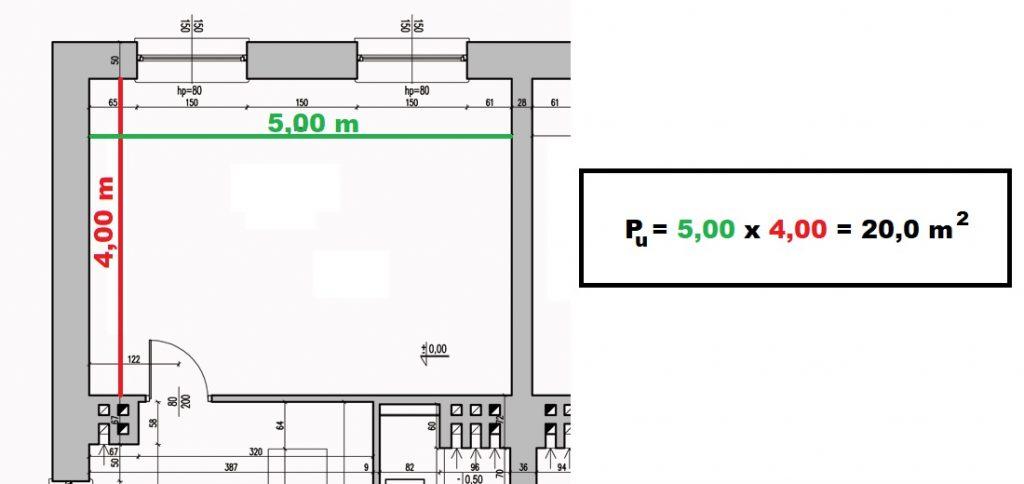 jak obliczyc powierzchnie uzytkowa pokoju domu mieszkania