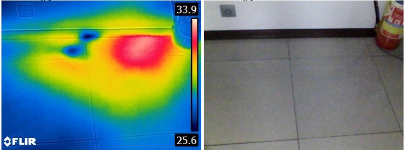 interpretacja zdjec kolorow termowizja wyciek wody